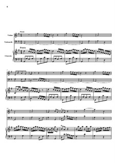 Trio Sonata No.2, WK 118: Movement II – Full score by Carl Friedrich Abel
