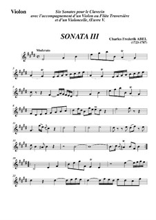 Trio Sonata No.3, WK 119: Movement I – Violin Part by Carl Friedrich Abel