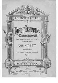 Piano Quintet in E Flat Major, Op.44: Violin I part by Robert Schumann