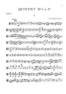 String Quintet No.1 in F Major, Op.85: Viola I part by Charles Villiers Stanford