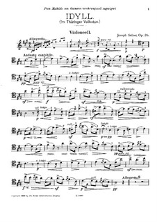 Idyll for Cello and Piano (or Harp), Op.26: Solo part by Joseph Sulzer