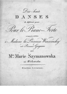 Eighteen Dances: Eighteen Dances by Maria Szymanowska