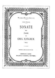 Sonata for Piano No.1 in E Minor, Op.35: Sonata for Piano No.1 in E Minor by Emil Sjögren