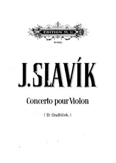 Violin Concerto in A Minor: Version for violin and piano by Josef Slavik