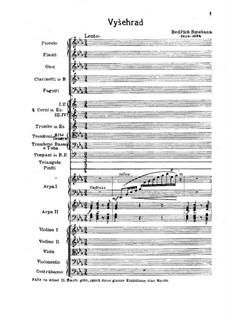 Vyšehrad, T.110: Full score by Bedřich Smetana