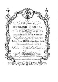 A Collection of English Songs: A Collection of English Songs by Robert Fayrfax, Edmund Turges, William Newark