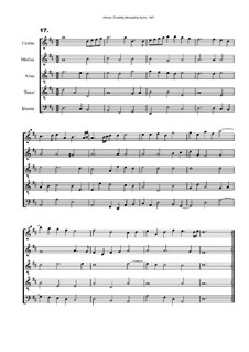 Courtly Masquing Ayres, No.17: Courtly Masquing Ayres, No.17 by John Adson