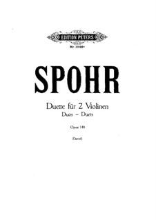 Duet for Two Violins, Op.148: Violin II part by Louis Spohr