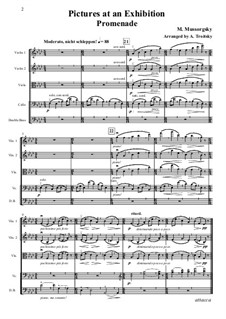Promenade, No.2 The Old Castle: For strings – full score, parts by Modest Mussorgsky