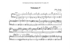 Ten Voluntaries for Organ (or Harpsichord), Op.7: Voluntary No.5 in D Minor by John Stanley