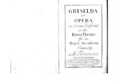 Griselda: Full score by Giovanni Battista Bononcini