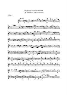 Overture: Oboes parts by Wolfgang Amadeus Mozart