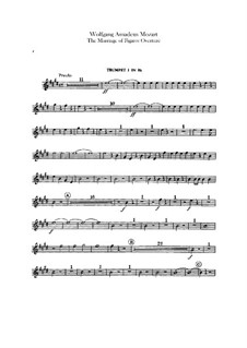 Overture: Trumpets parts by Wolfgang Amadeus Mozart