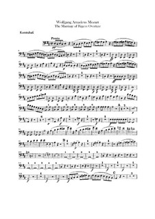 Overture: Double bass part by Wolfgang Amadeus Mozart