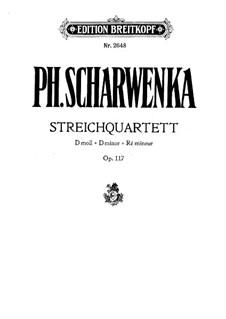 String Quartet No.1 in D Minor, Op.117: Parts by Philipp Scharwenka
