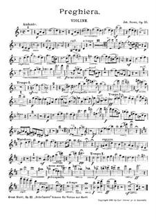 Preghiera, Op.35: Violin part by Johannes Snoer