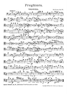 Preghiera, Op.35: Cello part by Johannes Snoer