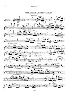 Concerto Sonata for Harp (or Piano) and Violin (or Cello), Op.113: Violin part by Louis Spohr