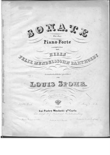 Sonata for Piano No.1 in A Flat Major, Op.125: For a single performer by Louis Spohr
