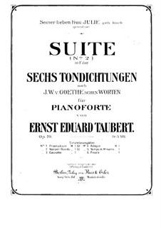 Suite No.2 in F Major, Op.70: Suite No.2 in F Major by Ernst Eduard Taubert