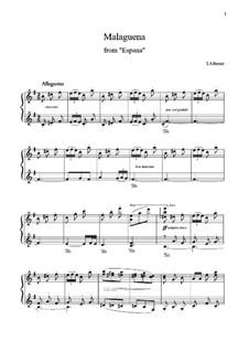 No.3 Malagueña: For piano by Isaac Albéniz