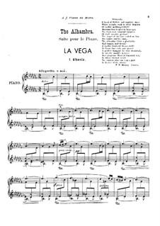 La Vega: For piano by Isaac Albéniz