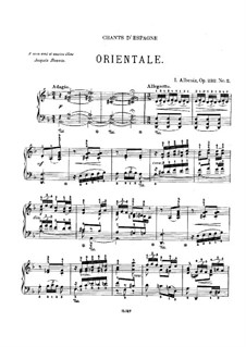 Chants d'Espagne, Op.232: No.2 Orientale by Isaac Albéniz