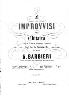 Four Improvisations: For guitar by Girolamo Barbieri