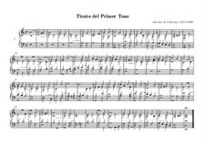Tiento del Primer Tono: For organ by Antonio de Cabezón