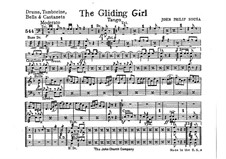 The Gliding Girl. Tango: Percussion part by John Philip Sousa