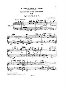 Ancient Suite No.3: Minuet by Isaac Albéniz