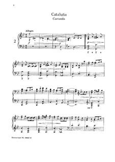 No.2. Cataluña: For piano by Isaac Albéniz