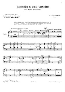 Introduction and Rondo Capriccioso, Op.28: Direction by Camille Saint-Saëns