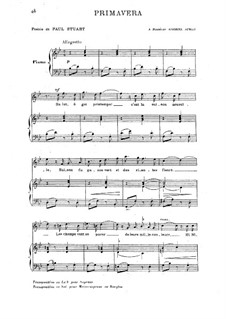 Primavera: Piano-vocal score by Camille Saint-Saëns