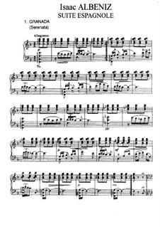 No.1 Granada: For piano by Isaac Albéniz