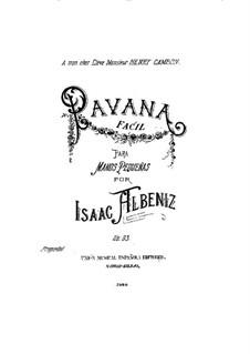 Pavana fácil, Op.83: For piano by Isaac Albéniz