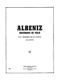 Recuerdos de viaje: No.6 Rumores de la Caleta by Isaac Albéniz