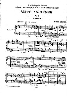 Ancient Suite No.1: Complete set by Isaac Albéniz