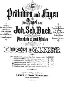 Prelude and Fugue No.6 in A Major, BWV 536: For piano by Johann Sebastian Bach