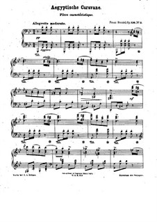 Drei charakteristische Stücke, Op.136: Nr.3 Aegyptische Caravane by Franz Bendel