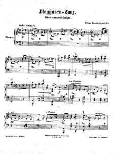 Drei charakteristische Stücke, Op.136: Nr.1 Magyaren Tanz by Franz Bendel