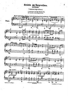 Drei charakteristische Stücke, Op.136: Nr.2 Röslein am Burgverliess by Franz Bendel