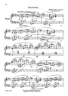May in Tuscany, Op.21: No.3 Barchetta by Ethelbert Woodbridge Nevin