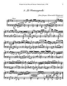 Pieces for Harpsichord, Op.1: No.2 La Demargnola by Jean-Jacques Beauvarlet-Charpentier