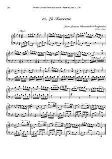 Pieces for Harpsichord, Op.1: No.10 La Tourrette by Jean-Jacques Beauvarlet-Charpentier