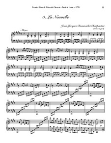 Pieces for Harpsichord, Op.1: No.3 La Nouvelle by Jean-Jacques Beauvarlet-Charpentier