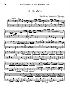 Pieces for Harpsichord, Op.1: No.14 La Motet by Jean-Jacques Beauvarlet-Charpentier