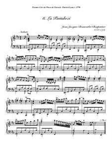 Pieces for Harpsichord, Op.1: No.8 La Pestalozi by Jean-Jacques Beauvarlet-Charpentier