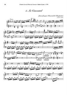 Pieces for Harpsichord, Op.1: No.5 La Cascastel by Jean-Jacques Beauvarlet-Charpentier