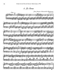 Pieces for Harpsichord, Op.1: No.4 La Siran by Jean-Jacques Beauvarlet-Charpentier
